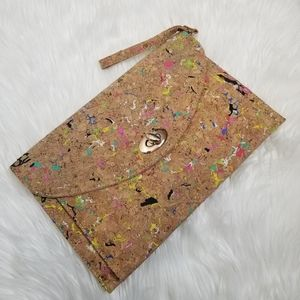 Street Level》 Recycled Rubber & Cork Wristlet